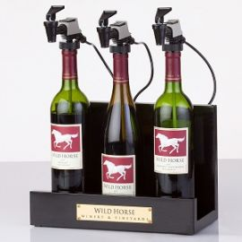 WineKeeper 3 Bottle Showcase (Black)