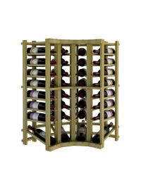 3 Ft. -  Individual Bottle Wine Rack - Curved Corner Top Stack with Lower Display