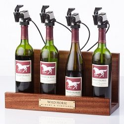 WineKeeper 4 Bottle Showcase (Mahogany)