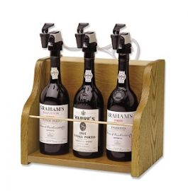 WineKeeper Vintner 3 Bottle Dispenser (Oak)