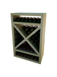 3 Ft. -  Solid Diamond Cube Wine Rack with Face Trim