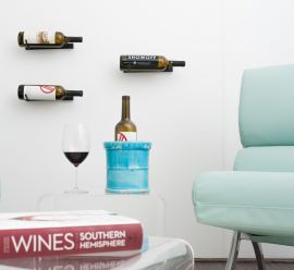 VintageView - Wall Series Single (1-Bottle) Metal Wine Rack