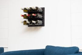 VintageView - C-Style Midnight Black Finish (Cork Forward) Wine Wall Panel