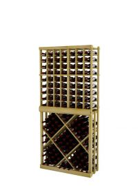 6 Ft. -  Individual Bottle Wine Rack with Open Diamond Bin