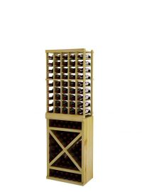6 Ft. -  Individual Bottle Wine Rack with Solid Diamond Cube