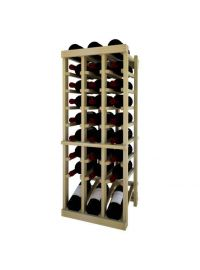 3 Ft. -  Individual Bottle Wine Rack - 3 Column Top Stack with Lower Display
