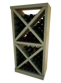 4 Ft. -  Solid Diamond Cube Wine Rack with Face Trim