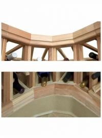Designer Series Wine Rack -  Curved Moldings - Crown and Base