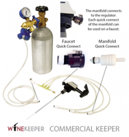 WineKeeper - 8-Way Manifold Commercial Keeper