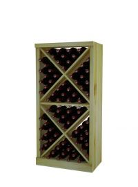 4 Ft. -  Solid Diamond Cube Wine Rack with Perimeter Trim