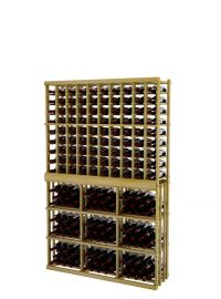 6 Ft. -  Individual Bottle Wine Rack - 10 Columns with 3 Column Rectangular Bin