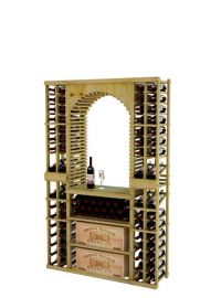 6 Ft. - Vintner Series - Individual Tasting Center with Two Display Rows and Case Storage