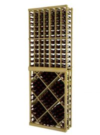 8 Ft. -  Individual Bottle Wine Rack with Open Diamond Bin