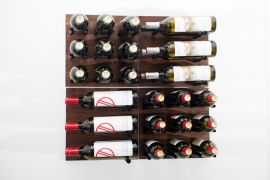VintageView - Traditional Cellar: Grain & Rod Metal and Wood Wine Rack Panel Kit