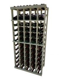 4 Ft. -  Individual Bottle Wine Rack - 5 Columns with Display