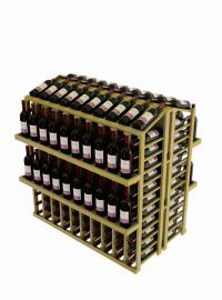 Vintner Commercial Island with Individual Bottle Rails and 4 Display Shelves - Commercial Series