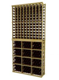 9 Ft. -  Individual Bottle Wine Rack - 10 Columns with 3 Column Rectangular Bin