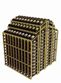 Vintner Commercial Double Deep Island with Individual Bottle Rails and 3 Display Rows - Commercial Series