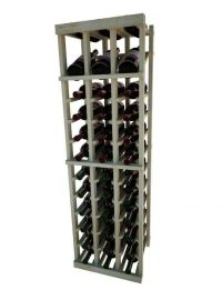 4 Ft. -  Individual Bottle Wine Rack - 3 Columns with Display