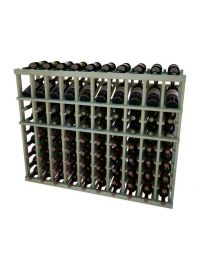 3 Ft. -  Individual Bottle Wine Rack - 10 Columns with Display