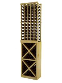 8 Ft. -  Individual Bottle Wine Rack with Solid Diamond Cube