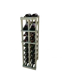 3 Ft. -  Individual Bottle Wine Rack - 2 Columns with Display