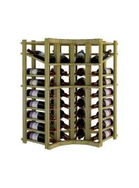 3 Ft. -  Individual Bottle Wine Rack - Curved Corner with Display