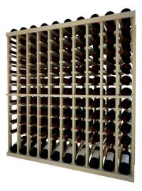 4 Ft. -  Individual Bottle Wine Rack - 10 Column Top Stack with Lower Display