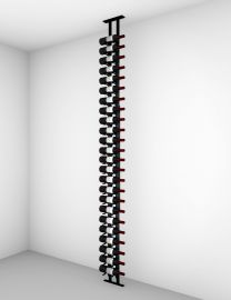 Ultra - Floor-to-Ceiling Mounted Wine Rack Display—1-Sided (21 Bottles)
