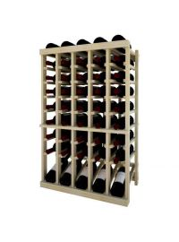 3 Ft. -  Individual Bottle Wine Rack - 5 Column Top Stack with Lower Display