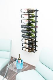 VintageView - Wall Series Magnum/Champagne Metal Wine Rack