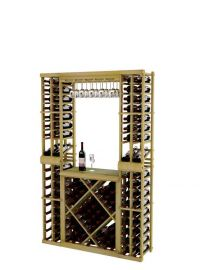 6 Ft. - Vintner Series - Individual Tasting Center with Top Stack Displays and Open Diamond Bin
