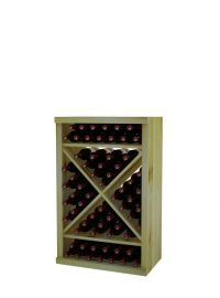 3 Ft. -  Solid Diamond Cube Wine Rack with Perimeter Trim