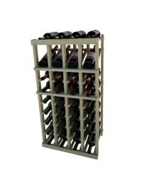 3 Ft. -  Individual Bottle Wine Rack - 4 Columns with Display
