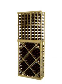 7 Ft. -  Individual Bottle Wine Rack with Open Diamond Bin