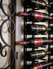 Ultra - 4 ft Wall Rails Metal Wine Rack (12 to 36 Bottles)