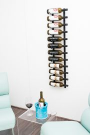 VintageView - W Series 4′ Wall Mounted Metal Wine Rack