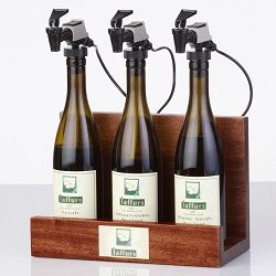 WineKeeper 3 Bottle Showcase (Mahogany)