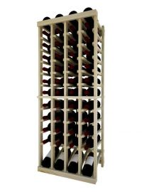 4 Ft. -  Individual Bottle Wine Rack - 4 Columns Top Stack with Lower Display