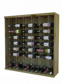 3 Ft. Individual Bottle Wine Rack with Diamond Bin with Face Trim