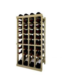 3 Ft. -  Individual Bottle Wine Rack - 4 Columns Top Stack with Lower Display