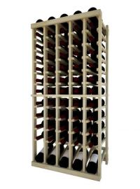 4 Ft. -  Individual Bottle Wine Rack - 5 Column Top Stack with Lower Display