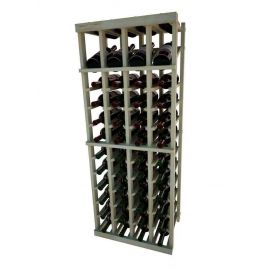 4 Ft. -  Individual Bottle Wine Rack - 4 Columns with Display