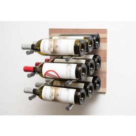 VintageView - L- Style Natural Wood Finish (Label Forward) Wine Wall Panel