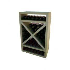 3 Ft. -  Solid Diamond Cube Wine Rack with Face Trim - Vintner Series