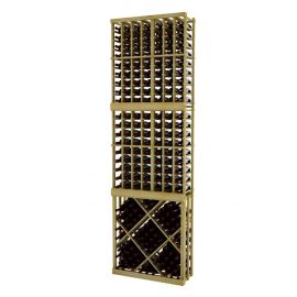 9 Ft. -  Individual Bottle Wine Rack with Open Diamond Bin - Vintner Series