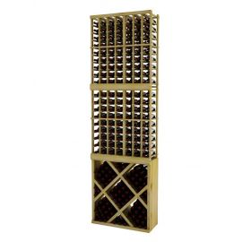 9 Ft. -  Individual Bottle Wine Rack with Diamond Bin with Face Trim
