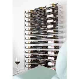 VintageView - Evolution Series 6 Metal and Acrylic Wine Tower (126 to 504 bottles)