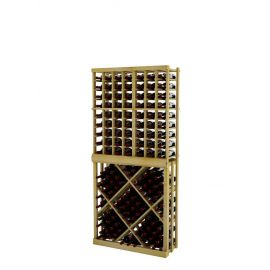 6 Ft. -  Individual Bottle Wine Rack with Open Diamond Bin - Vintner Series