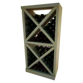 4 Ft. -  Solid Diamond Cube Wine Rack with Face Trim - Vintner Series